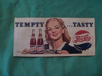 Vintage 1940's Ink Blotter Advertising Pepsi-Cola