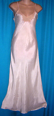 *romantic Light Pink Vintage 40's Rayon Nightgown**s**lingerie
