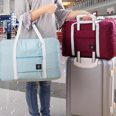 Travel Foldable Luggage Bag Clothes Storage Carry-On Duffle Weekend Bag - LD