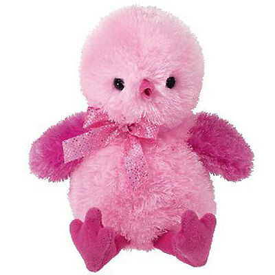TY Pinkys - CHENILLE the Pink Chick (5.5 inch) - MWMTs Beanie Baby Stuffed Toy