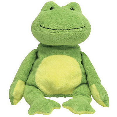 TY Pluffies - PONDS the Frog (Soft Eyes Version) (10 inch) - MWMTs Stuffed Toy