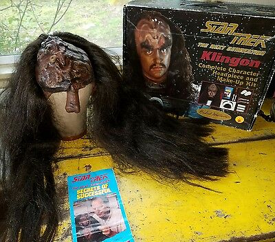 Vintage Star Trek KLINGON Halloween Mask Kit Michael Westmore series 1994