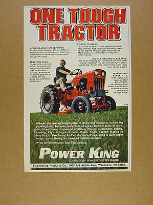 1979 Power King Tractor color photo vintage print Ad