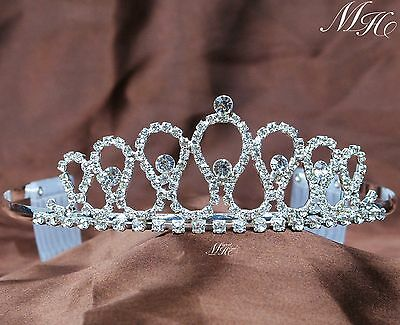 Wedding Bridal Princess Tiara Crystal Clear Rhinestone Crown Headband Hair Comb