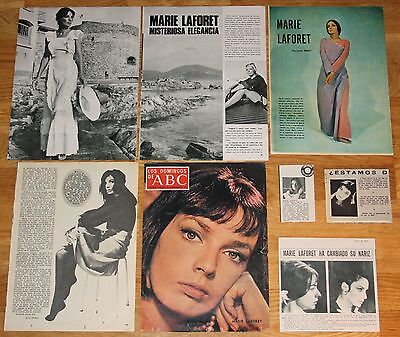 MARIE LAFORET spain clippings 1960s/70s photos magazine articles french singer