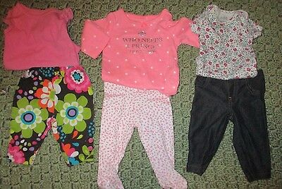 Lot of 6 Infant Girl's Clothes - size NB