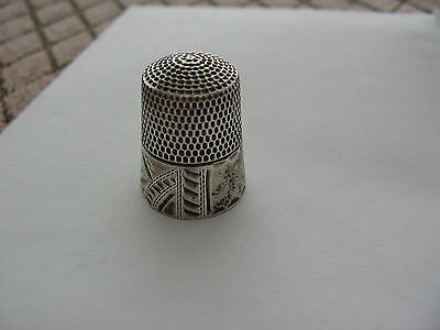 THIMBLE SILVER-CHASED ART PATTERN-C1880s..