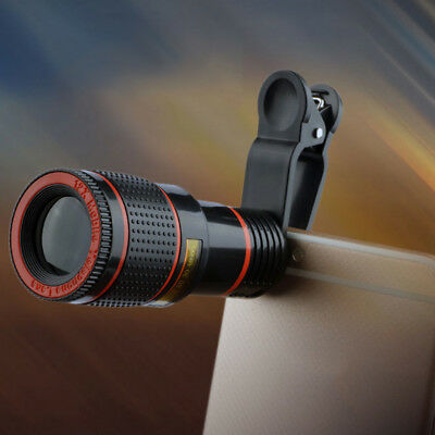 Universal Clip-on 12x Optical Zoom HD Telescope Camera Lens for Smart Phone
