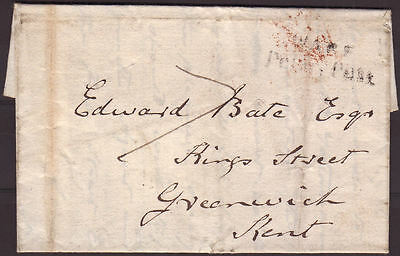 1816 Lettersheet Standon, Herts To Greenwich, Kent With Interesting Postmarks
