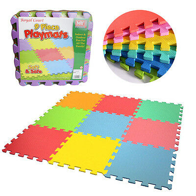 Kids EVA Foam Play Mat Interlocking Soft Playmat Set Tiles Floor Baby Childrens