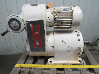Reeves Reliance Size 442 Adjustable Speed Reducer 10Hp 230/460V 25.6:1 Ratio