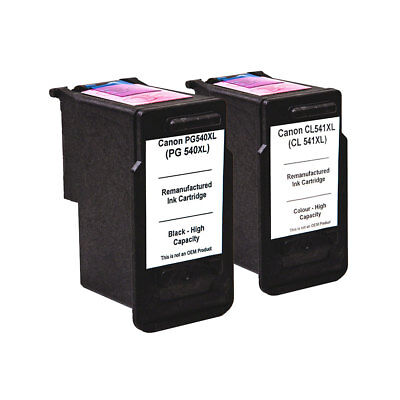 2 Non OEM CL541 PG540 Ink Cartridges for Canon PIXMA MG2150 MG3150 MG3250 MG3550