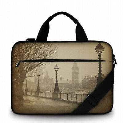 Silent Monsters Canvas Laptop Tasche 17,3 Zoll (43,9cm) Design: Big Ben