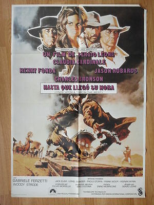 ONCE UPON A TIME IN THE WEST Sergio Leone - Spanish 1-sheet CARDINALE / FONDA