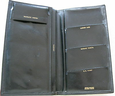 Vintage PRINCE GARDNER Travel Organizer Passport Travelers Checks Tickets WALLET