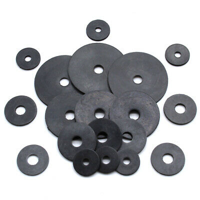 BLACK NEOPRENE RUBBER PENNY WASHERS M5 M6 M8 M10 M12, 20mm 25mm 30mm 40mm 50mm