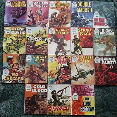 18 X War Picture Library War Comics,job Lot Collection,1977-1979