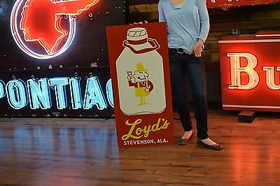 Loyd's DAIRY COW MILK BOTTLE SIGN Tin with embossing Farm Pantry Country Decor