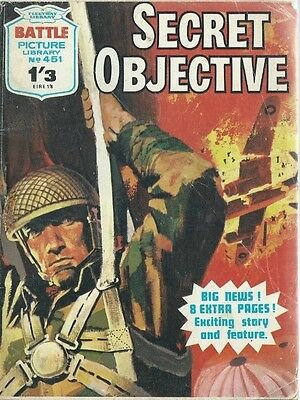 Secret Objective,battle Picture Library,no.451,war Comic,1970
