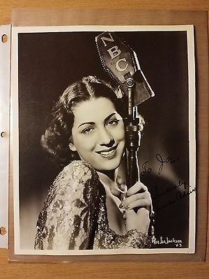 **SIGNED FRANCES ADAIR Original Vintage NBC Studio Photo Ray Lee Jackson BW 8x10