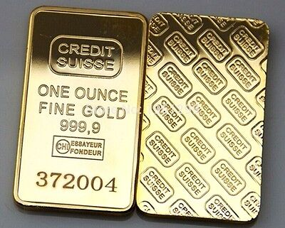1 Oz. Gold Clad Plated Bar In Hard Plastic Display Case! -
