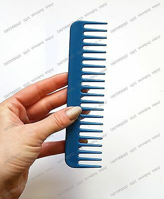 New Blue Detangling Wide Tooth Hair Comb  Extension Detangling Dipping Afro Comb