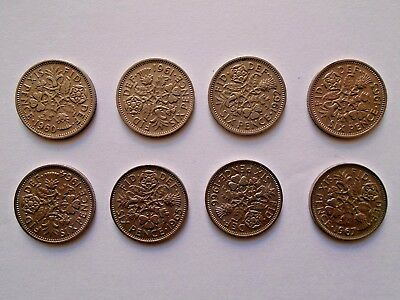 LUCKY Sixpence 1960 - 1967 Choose Date (supplied in coin wallet) 99p Each