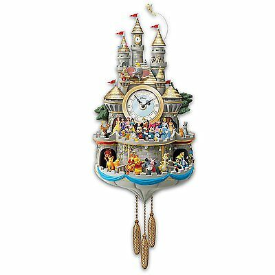 Disney Timeless Magic Music And Motion Bradford Exchange Wall Cuckoo Clock