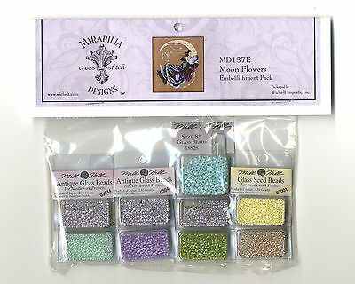 Cross Stitch ~ Mirabilia Embellishment Pack for Moon Flowers #MD137E