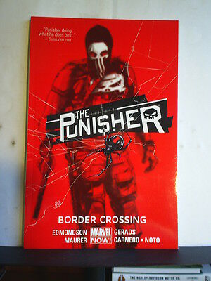 GRAPHIC NOVEL: THE PUNISHER - BORDER CROSSING - Paperback 2015 1st print
