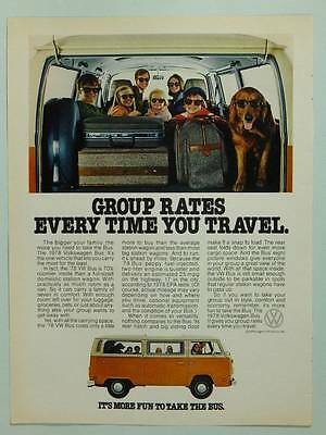 1978 Volkswagen VW Bus - Vintage Magazine Ad Page - Automobile Advert