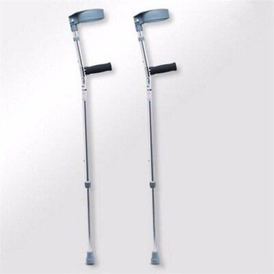 2X Ultralight Portable Adjustable Forearm Crutches Walking Stick Aluminium