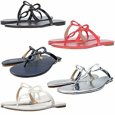 5b0456c2c Michael Kors Womens Claudia Slip On Double Ring T-Strap Flat Thong Sandals