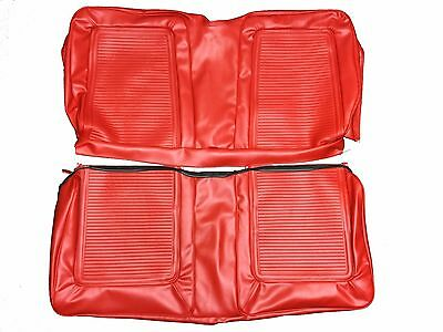 1964-65 Plymouth Barracuda Seat Covers Red Front Buckets Seats Rear Back Bottom