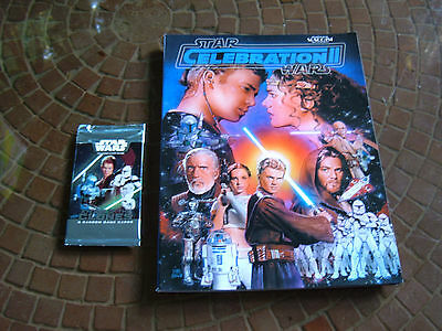 "Star Wars ""celebration Ii Magazine"" & ""attack Of The Clones"" Game Cards! Sealed!"
