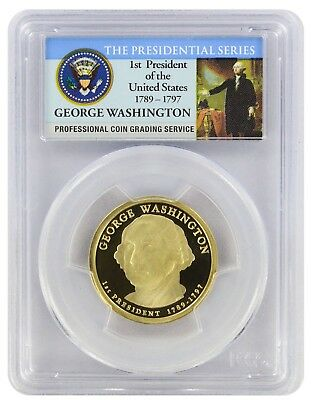 2007-S George Washington Presidential Dollar PR69DCAM PCGS Proof 69 Deep Cam PL