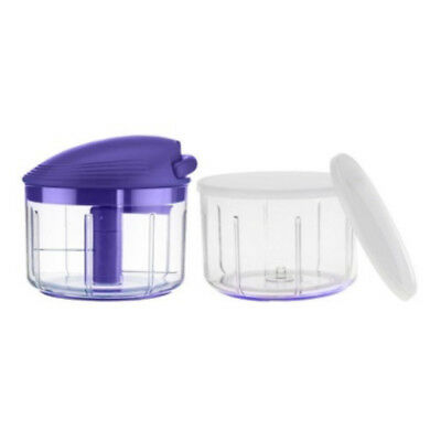 Kuhn Rikon Swiss Pull Chop Manual Food Processor With 2 Containers, Purple
