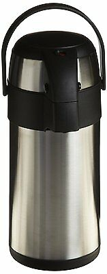 OpenBox Genuine Joe GJO11961 Stainless Steel High Capacity Vacuum Airpot with Re