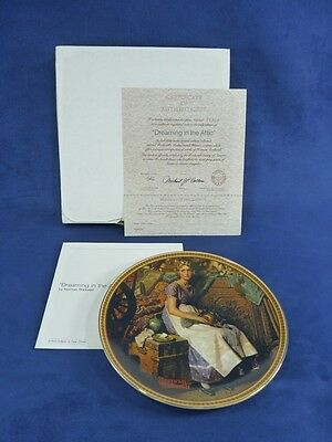 Knowles Norman Rockwell Plate Dreaming In The Attic (130)