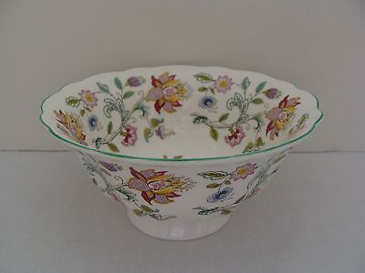 Minton Haddon Hall Bone China Footed Open Candy Dish Or Bowl Flower Design