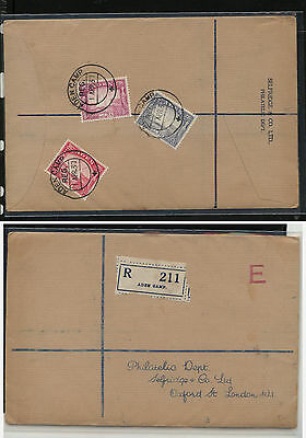 Aden  6,7,8  first  day  cancel  cover to Selfridge ,  London        APL 0424