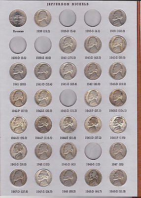 1938 - 2006 Jefferson Nickel Collection (139 Coins)