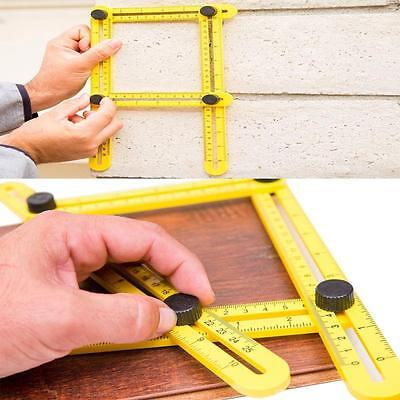 Useful Four-Sided Ruler Measuring Tool Template, Mini Sewing Dieting Rulers - LD