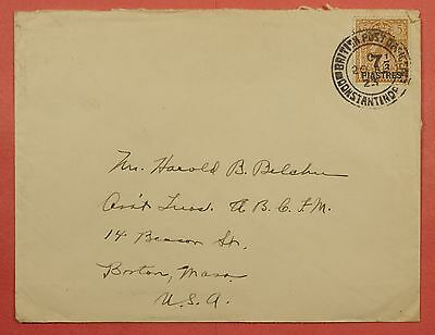 1923 British Levant Offices In Turkey Constantinople Cancel Overprint On Cover