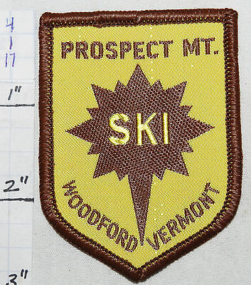 VERMONT, PROSPECT MOUNTAIN SKI AREA, WOODFORD WOVEN VINTAGE 1960's ERA  PATCH