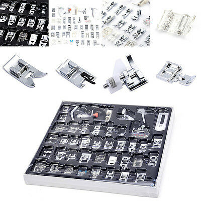 42pcs Domestic Sewing Machine Foot Feet Presser Accessories For Brother Janome