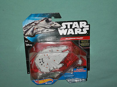 Star Wars Episode VII Force Awakens Millennium Falcon Hot Wheels New MOC