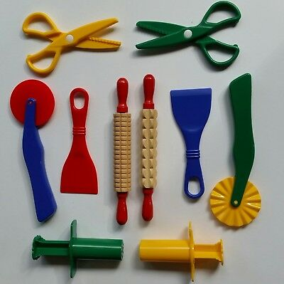 Playdough Play Doh Accessories Fun Dough Clay  10 Quality Tools for 2 Children