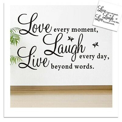 Room Decor Vinyl Art Live Laugh Love Stickers Wall Sticker Removable Mural US