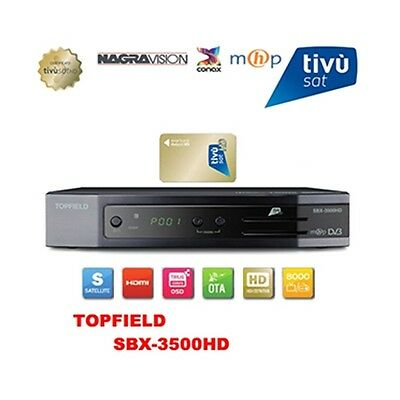 Ricevitore decoder digitale satellitare TOPFIELD SBX 3500 HD Tivusat TOPFIELDSBX